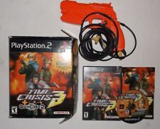 Time Crisis 3 (Sony PlayStation 2, 2003) COMPLETE w/ Manual, Gun, & Original Box