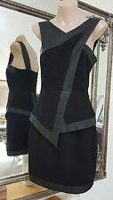 NWOTS Rodeo Show dress.Sz8.Crepe jersey with leatherette trim.Unworn.