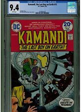 KAMANDI THE LAST BOY ON EARTH  #15 CGC 9.4 WHITE PAGES 1974 JACK KIRBY DC COMICS