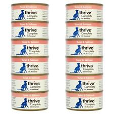 12 x thrive Wet Cat Food Tuna & Salmon Fillet 100% Natural Complete Tin Fish 75g