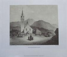 Edinger DORF SCHWARZENBERG BREGENZER WALD Vorarlberg Vedute Kunstdruck art print