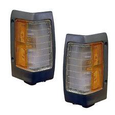 Corner Lights with Black Bezels - PAIR - Fits OE#s B6115-01G02, B6110-01G02