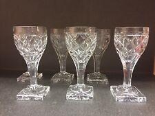 6 verres à vin en cristal Ste Hélène taille losange.H: 145 mm Val St Lambert