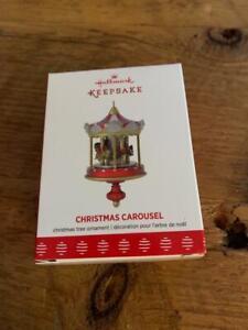 Hallmark Keepsake Ornament 2017 Christmas Carousel Mini Red and gold 1st series