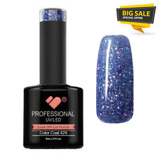 429 VB™ Line Blue Lagoon Silver Glitter * UV-LED soak off gel nail polish