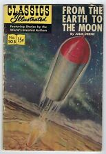 CLASSICS ILLUSTRATED #105 From Here to the Moon 1952 edition 15 cent cover.