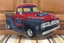 FORD MOTOR COMPANY Metal Gas Oil F100 TRUCK Vintage Style Garage Coupe V8 Parts