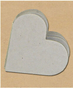 """BareElements HEART 4"""" CHIPBOARD MINI-BOOK scrapbooking READY TO DECORATE!"""