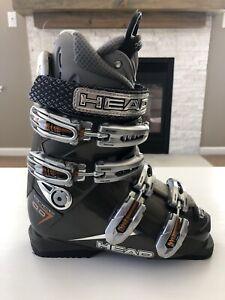 Head Edge 10.0 HP Fit Gray Ski Boots Mondo Size 23.5 EUC 274mm