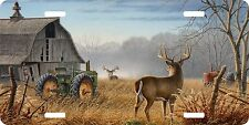 Deer Barn Tractor Farm Hunting Hunter Field License Plate Car Truck Tag