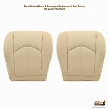 Driver and Passenger Bottom Leather Cover Tan Fits 2001 2002 2003 Lexus RX300