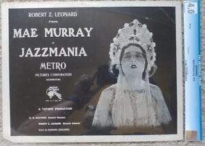 JAZZMANIA CGC GRADED SET OF 3 LOBBY CARDS METRO, 1923