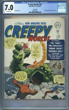 🔥 CREEPY WORLDS ISSUE #32 UK COMIC BOOK FANTASTIC FOUR #1 CGC 7.0 🔥2nd HIGHEST