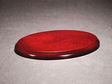 5x Oval Wooden Display Plinth / Base Size : 15,5cm x 10cm For models ,figures