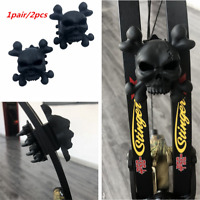 Skull Archery Compound Bow Stabilizer Silencer Limb Damper Shock Absorber 2pcs