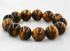 "12mm Natural African Roar Tiger's Eye Round Beads Bracelet 7.5"""