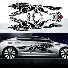 1 set Auto Black Wolf Car Hood Sticker Wolf Totem Graphic Body Decals 188x50cm