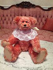 """Teddy Bear Artist Judy Senk of Stuf'd Stuff """"Cora"""" 15 1/2 inches Mohair"""