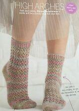 KNITTING PATTERN Ladies Lace Patterned Ankle Socks Self Patterning Drops PATTERN