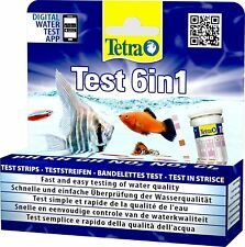 Tetra 6 in 1 (25 Strips) PH KH GH NO2 NO3 C12 Tropical Aquarium Multi Test Kit
