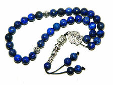 0722 - Prayer Beads - 33 x 8mm Genuine Lapis Lazuli Gemstone Beads / Buddha