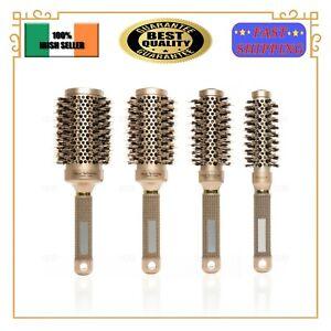 Nano Thermal Ceramic & Ionic Round Barrel Vented Hair Brush With Boar Bristle EU