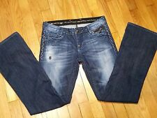 Rerock For Express Boot Cut Jeans Size 4 Low Rise Medium Wash Most Excellent