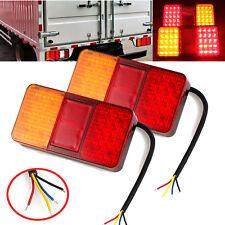 2pcs LED Rear Tail Light Multi-function Trailer Truck Caravan Van Boat Lamp 12v