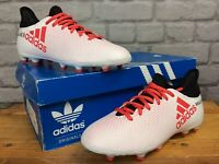 ADIDAS BOYS UK 4 EU 36 2/3 X 17.3 FG WHITE CORAL FOOTBALL BOOTS CHILDREN
