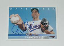 Robb nen signiert Auto würde 1993 Upper Deck Karte #687 Texas Rangers Riesen Marlin