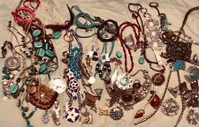 bolo tie + other ethnic Vintage Native American Bead Beadwork Jewelry.Necklace