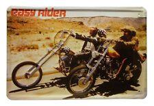 Blechschild Easy Rider Motorrad 20 x 30 cm Metallschild 44
