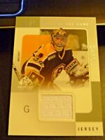 2000-01 SP Tools of the Game BYRON DAFOE Game-Used GU Jersey Boston Bruins #BD