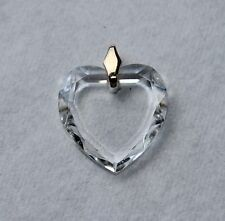 Vintage Faceted Crystal Heart Pendant