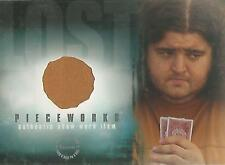 "Lost Season 2 - PW-5 Jorge Garcia ""Hurley's Shirt"" Pieceworks Costume Card"