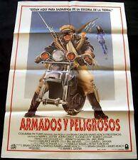 1986 Armed and Dangerous ORIGINAL SPAIN MOVIE POSTER John Candy BIKE Art Design
