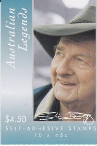 2001 Australian Legend Slim Dusty Stamp Booklet (SB141) - General Barcode