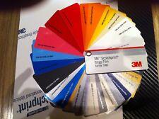Nuancier  34 échantillons films vinyles 3M Serie Scotchprint 1080