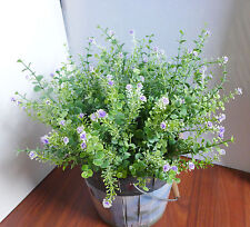 4 Bunches Artificial Flowering Grass Plastic Flower Plants