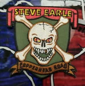 EMBROIDERED STEVE EARLE OUTLAW COUNTRY PATCH