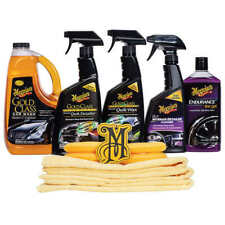 Kit Meguiar's Car Wash and Wax,CURA DELL'AUTO LAVA E LUCIDA 12 PEZZI