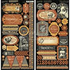 "Graphic 45 6""x12"" Stickers 2pcs - Farmhouse"