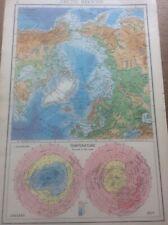 1942 Vintage John Bartholomew Atlas Map 14.75� Arctic Regions