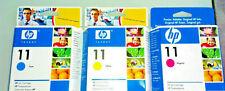 6x HP11 HP 11 Nr.11 | C4836A C4837A C4838A - C/M/Y f. Officejet Set Satz NEU
