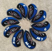 10PCS Black&Blue Neoprene Callaway Big Bertha Golf Club Iron Covers HeadCovers