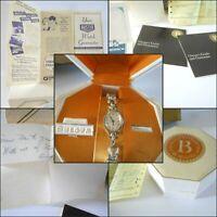1970 BULOVA Watch Rhapsody 10kt Rolled Goldplate Orig Box Case Receipt NOT WORK