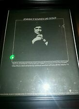 Johnny Cash I Will Rock and Roll With You Rare Original Promo Poster Ad Framed!