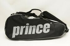 Prince Multi Tennis Racquet Travel Bag/Backpack w/ shoulder straps White Black