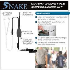 Q-Release Covert SNAKE Ipod-Style Headset for Vertex VX-600 VX-800 VX-900 Radios