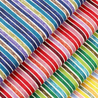 Cotton Fabric per FQ 5mm Vintage Retro Pirate Candy Stripe Dress FabricTime VA73